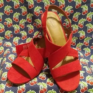 New Beautiful Red Dress Sandals Size 13